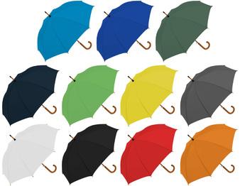 El paraguas con mango de madera es ideal para promocionar tu marca