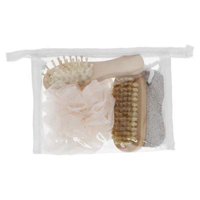 KIT DE ASEO El kit de aseo sin duda es lo mejor para tus viajes guarda cuida todos tus accesorios para tu relajante y rico baño