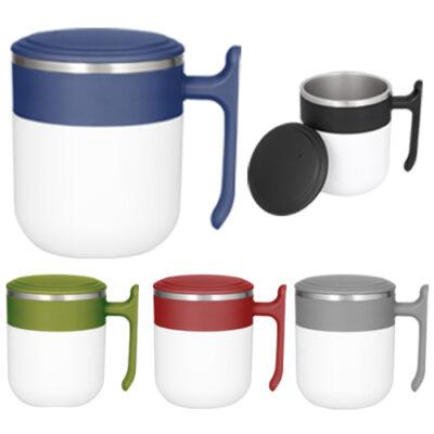 TAZAS DE ACERO Tazas de acero sin duda ideales para aquellos que les gusta tomar su cafecito caliente en la oficina ademas tiene tapa