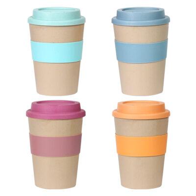 VASO ECOLOGICO PARA CAFE Vaso ecologico para cafe sin duda un muy bonito producto además es de fibra de bamboo y tiene una manga de silicon